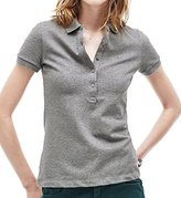 Lacoste Women's Short Sleeve Stretch Pique Slim Fit Polo Shirt