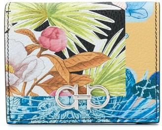 Salvatore Ferragamo Gancini floral-print wallet