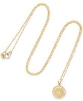 Andrea Fohrman Full Moon Phase 18-karat Gold Diamond Necklace - one size