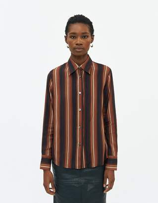 Our Legacy Women's 70'S Line Shirt in Sofa Stripe, Size 34
