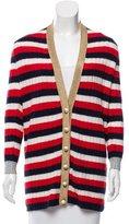 Gucci 2016 Oversize Striped Cashmere Cardigan