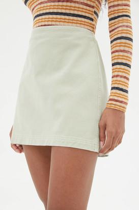BDG Sara Twill High-Waisted Mini Skirt