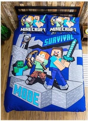 Minecraft Survive Reversible Double Duvet Cover Set