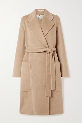 Acne Studios Belted Wool Coat - Camel