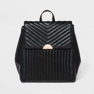 A New Day Quilted Flap Backpack