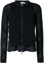Moncler layered loose knit cardigan - women - Polyester/Viscose - S