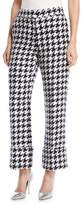 Oscar de la Renta Cropped Straight-Leg Houndstooth Tweed Pants