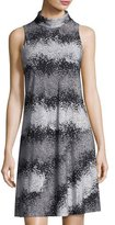 Taylor High-Neck Printed Jersey Dress