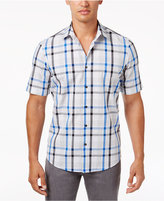 Alfani Men's Heathered Plaid Shirt, Only at Macy's