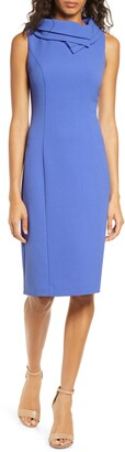Harper Rose Double Collar Crepe Sheath Dress