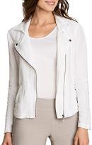 Nic+Zoe Plus Linen Biker Jacket