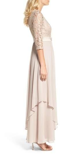 Eliza J Women's Embellished Lace & Chiffon Gown