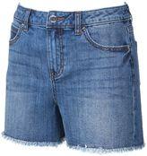 JLO by Jennifer Lopez Women's Frayed Jean Shorts