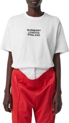 Burberry Carrick Logo Embroidered Tee