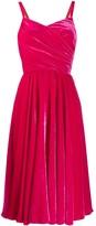 Dolce & Gabbana velvet wrap dress