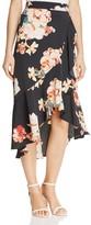 Band of Gypsies Floral-Print Wrap Skirt