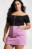 Forever 21 FOREVER 21+ Plus Size Corduroy Mini Skirt