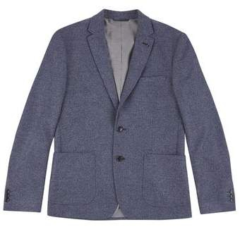 Burton Mens Blue Chambray Jersey Blazer