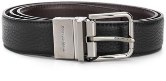 Dolce & Gabbana Buckle Leather Belt