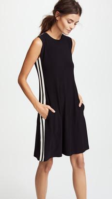 Norma Kamali Side Stripe Sleeveless Swing Dress
