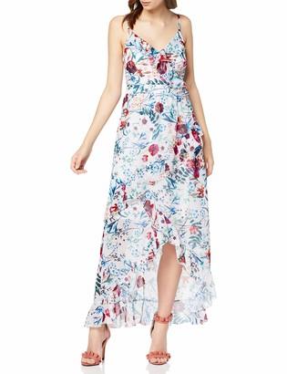 Little Mistress Women's Ria Floral-Print Midi Dress Party