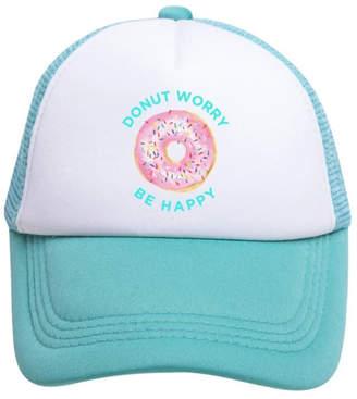 Tiny Trucker Donut Worry Be Happy Trucker Hat