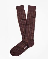 Brooks Brothers Windowpane Over-the-Calf Socks