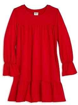 Aqua Girls' Long Ruffled Knit Dress, Big Kid - 100% Exclusive