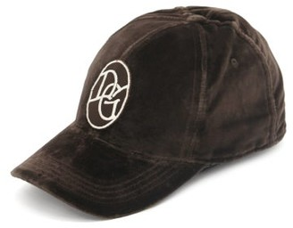 Dolce & Gabbana Logo-patch Cotton-velour Cap - Brown