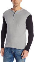 Company 81 Men's Jack Long Sleeve Thermal Shirt Henley Shirt with Contrast