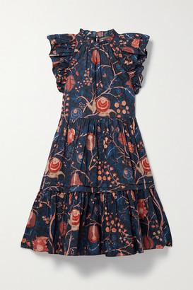 Ulla Johnson Eden Ruffled Tiered Floral-print Cotton-poplin Mini Dress