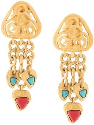 Chanel Pre-Owned 1995's CC Fringe Motif Earrings
