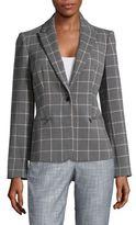 Calvin Klein Checkered Plaid Blazer