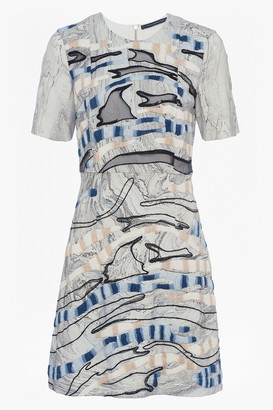 French Connection Derain Stitch Back Cut Out Dress