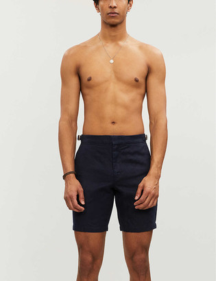 Orlebar Brown Norwich mid-rise slim-fit linen shorts