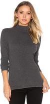 James Perse Brushed Turtleneck Long Sleeve Tee