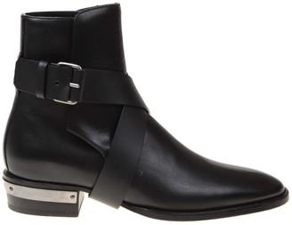 Balmain Black Calf Leather Boots