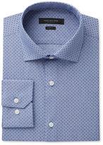 Andrew Marc Men's Slim-Fit Motion-Ease Collar Wrinkle-Free Dot-Print Dress Shirt