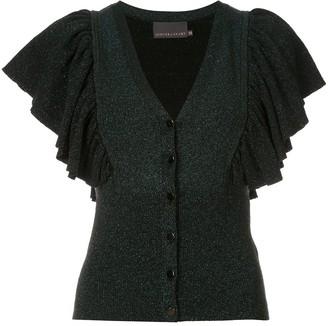 Ginger & Smart Tincture Metallic Knit Cardigan
