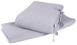 Clair De Lune Waffle Crib/Cradle Quilt and Bumper Set
