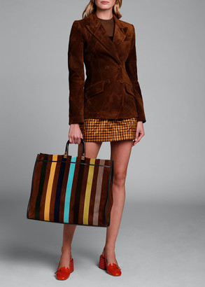 Fendi Perforated Suede Double-Breasted Jacket