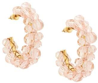 Simone Rocha crystal embellished hoop earring