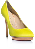 Charlotte Olympia Debonaire neon shoes