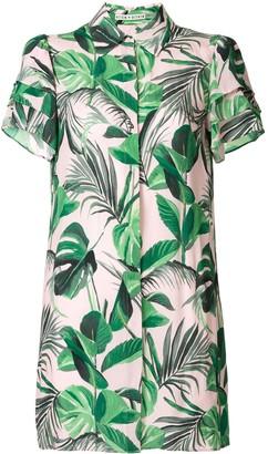 Alice + Olivia Jem palm-print shirt dress