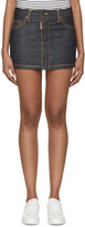 DSQUARED2 Indigo Denim Hula Miniskirt