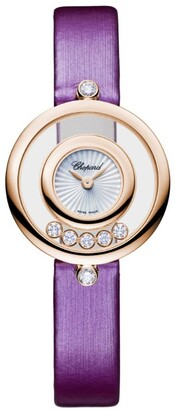 Chopard Rose Gold and Diamond Happy Diamonds Icons Watch 25.8mm