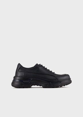 Giorgio Armani Deerskin Lace-Ups With Oversized Soles