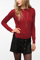 Urban Outfitters Pins and Needles Mixed Stitch Long-Sleeve Sweater