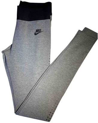 Nike Grey Cotton Trousers for Women