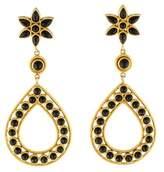 Temple St. Clair 18K Onyx Floral Drop Earrings